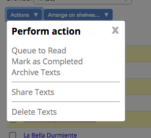 Perform Actions on Texts